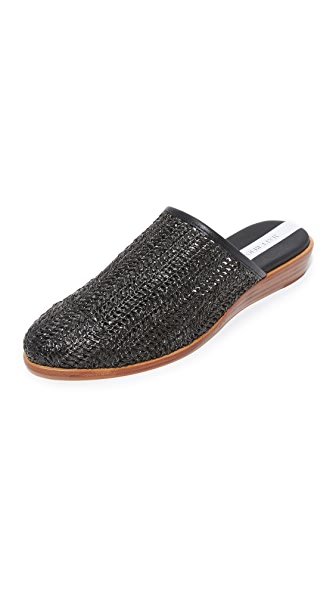 Matt Bernson Finch Raffia Demi Wedges - Onyx