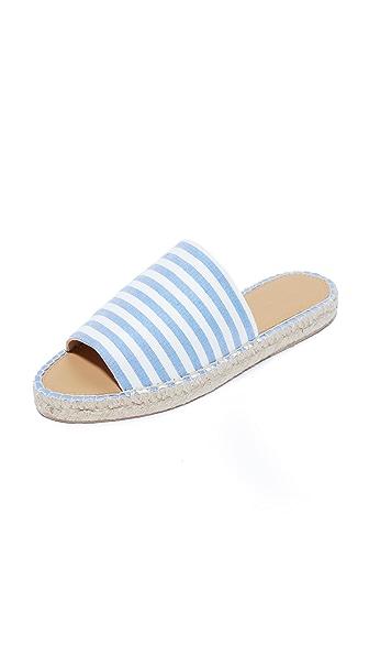 Matt Bernson Palma Slides - Sky Blue/White Stripe