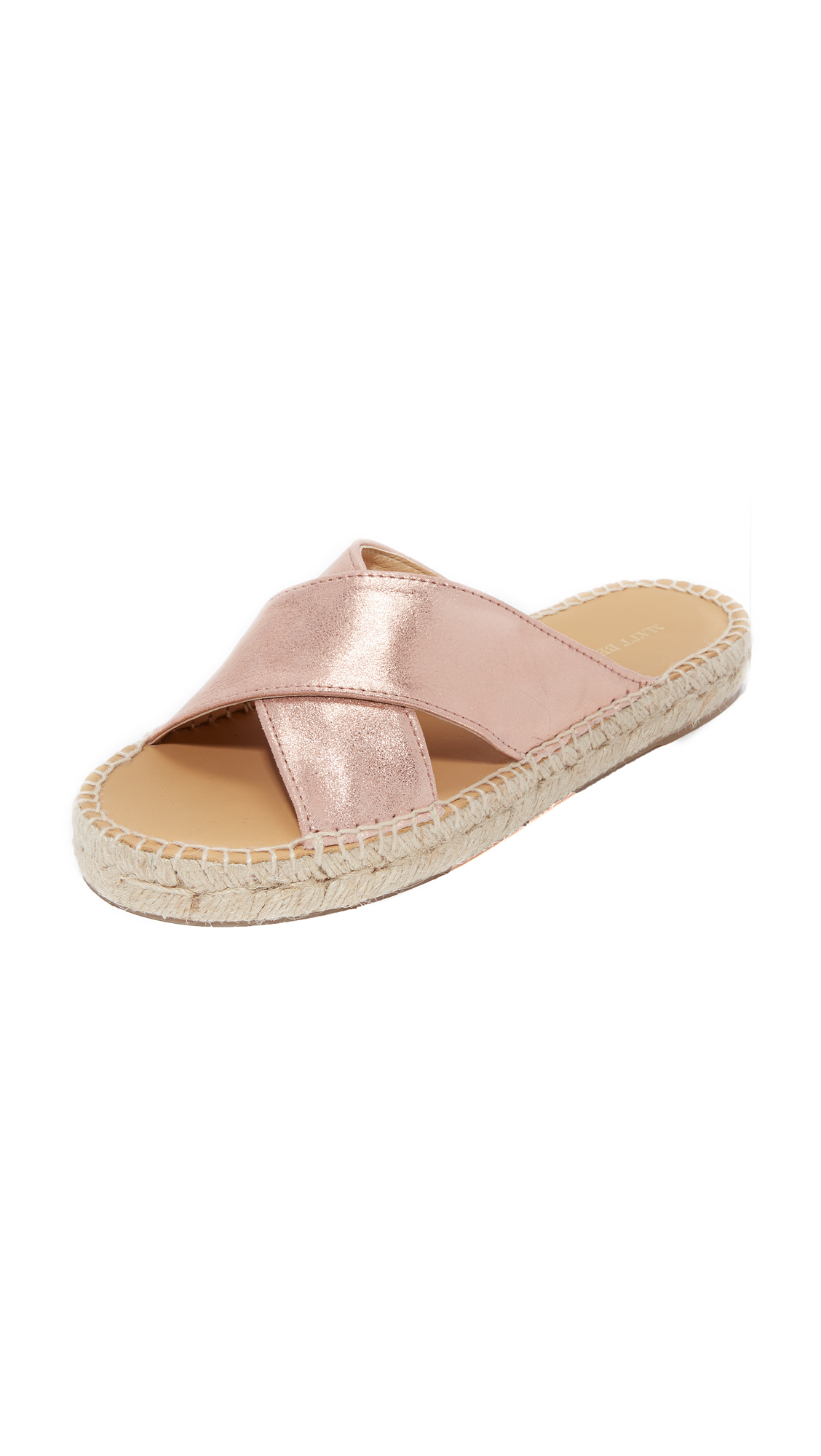 Matt Bernson Porto Metallic Slides - Rose Gold