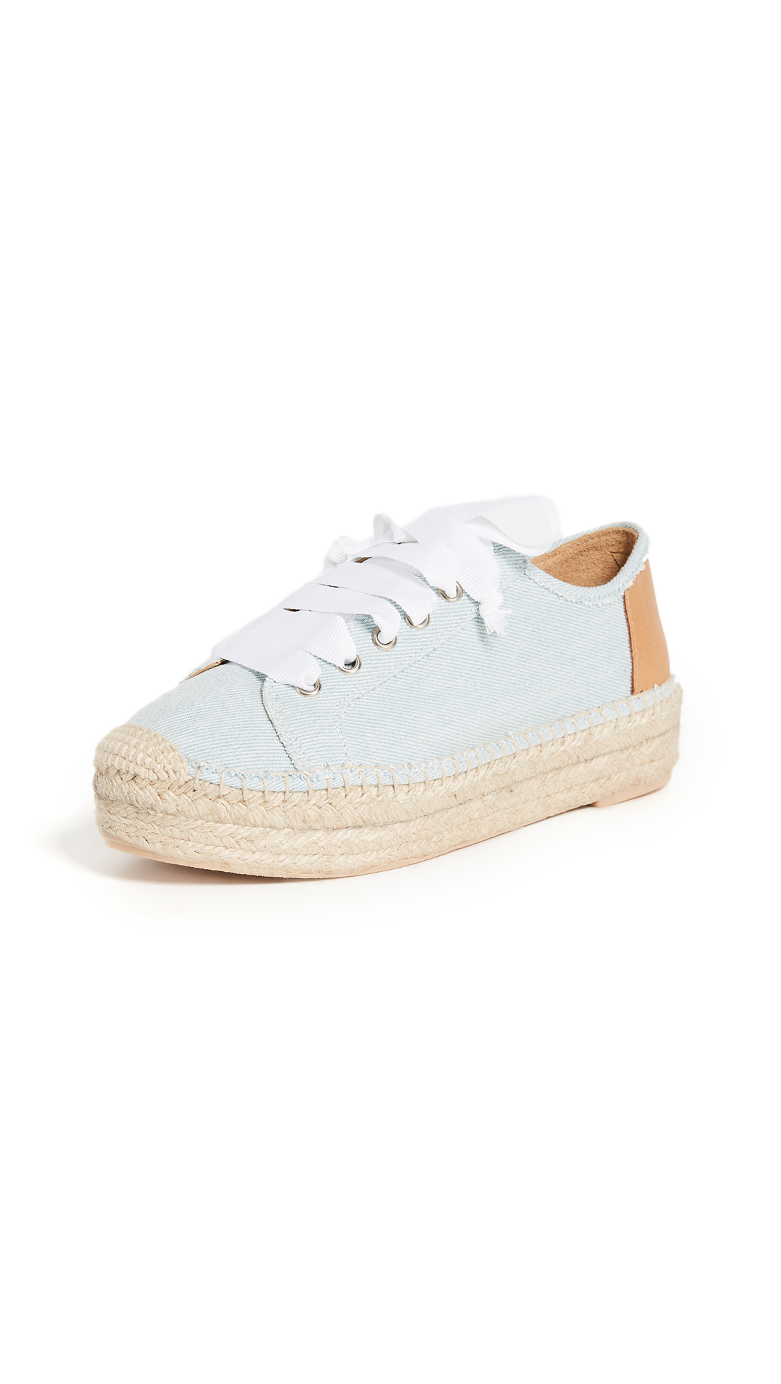 Matt Bernson Eze Laceup Espadrilles - Light Denim