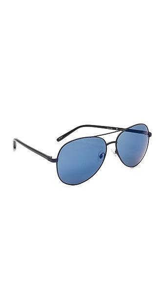 Matthew Williamson Зеркальные солнцезащитные очки-авиаторы