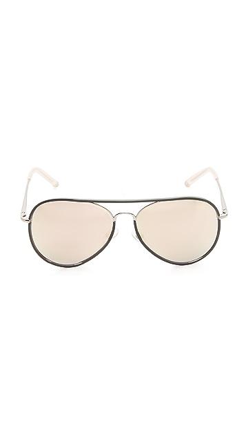 Matthew Williamson Mirrored Aviator Sunglasses