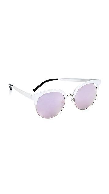 Matthew Williamson Round Mirrored Sunglasses