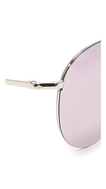 Matthew Williamson Round Aviator Mirrored Sunglasses