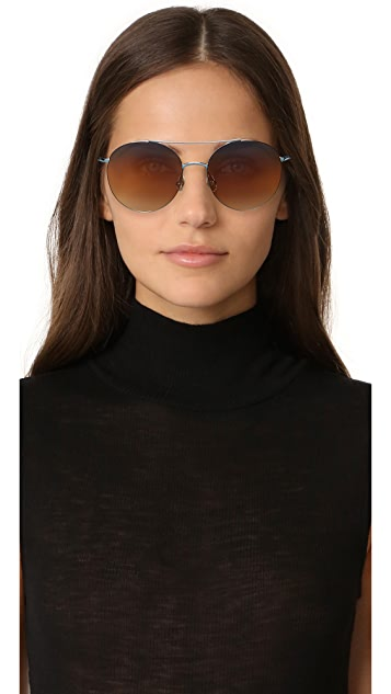 Matthew Williamson Round Aviator Sunglasses