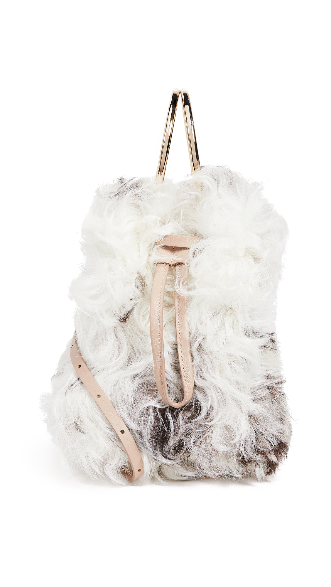 SMALL SHEARLING BUCKET WITH METAL RINGS from Shopbop