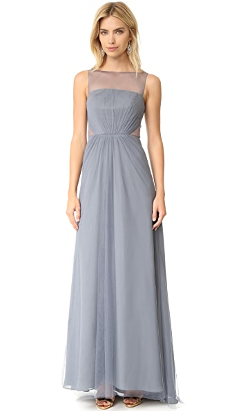 Monique Lhuillier Bridesmaids Tulle Illusions Cut Out Gown at Shopbop