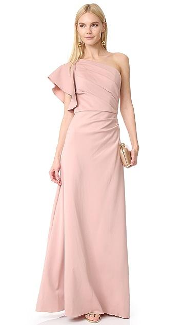 Monique Lhuillier Bridesmaids One Shoulder Gown