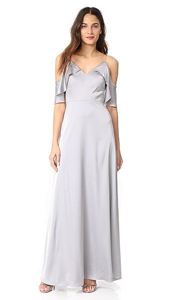 Monique Lhuillier Bridesmaids Gown In Slate