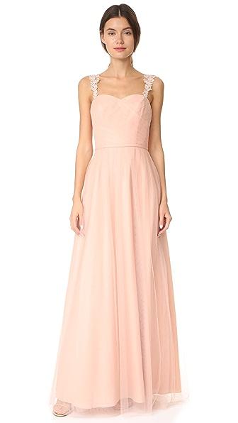 Monique Lhuillier Bridesmaids Tulle Gown - Bellini
