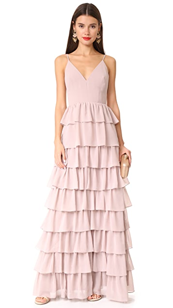 Monique Lhuillier Bridesmaids Tiered Dress