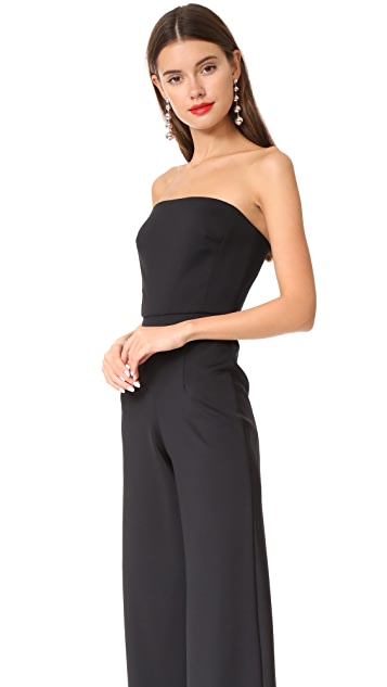 Monique Lhuillier Bridesmaids Strapless Jumpsuit