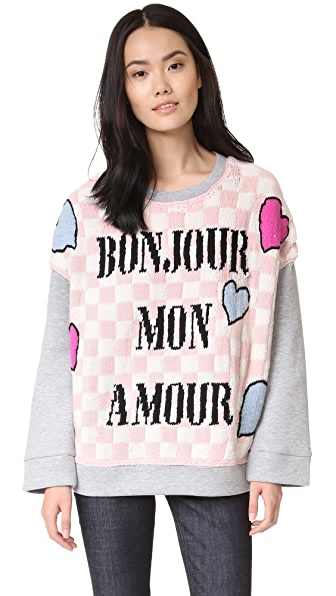 michaela buerger bonjour mon amour oversize sweatshirt shopbop. Black Bedroom Furniture Sets. Home Design Ideas