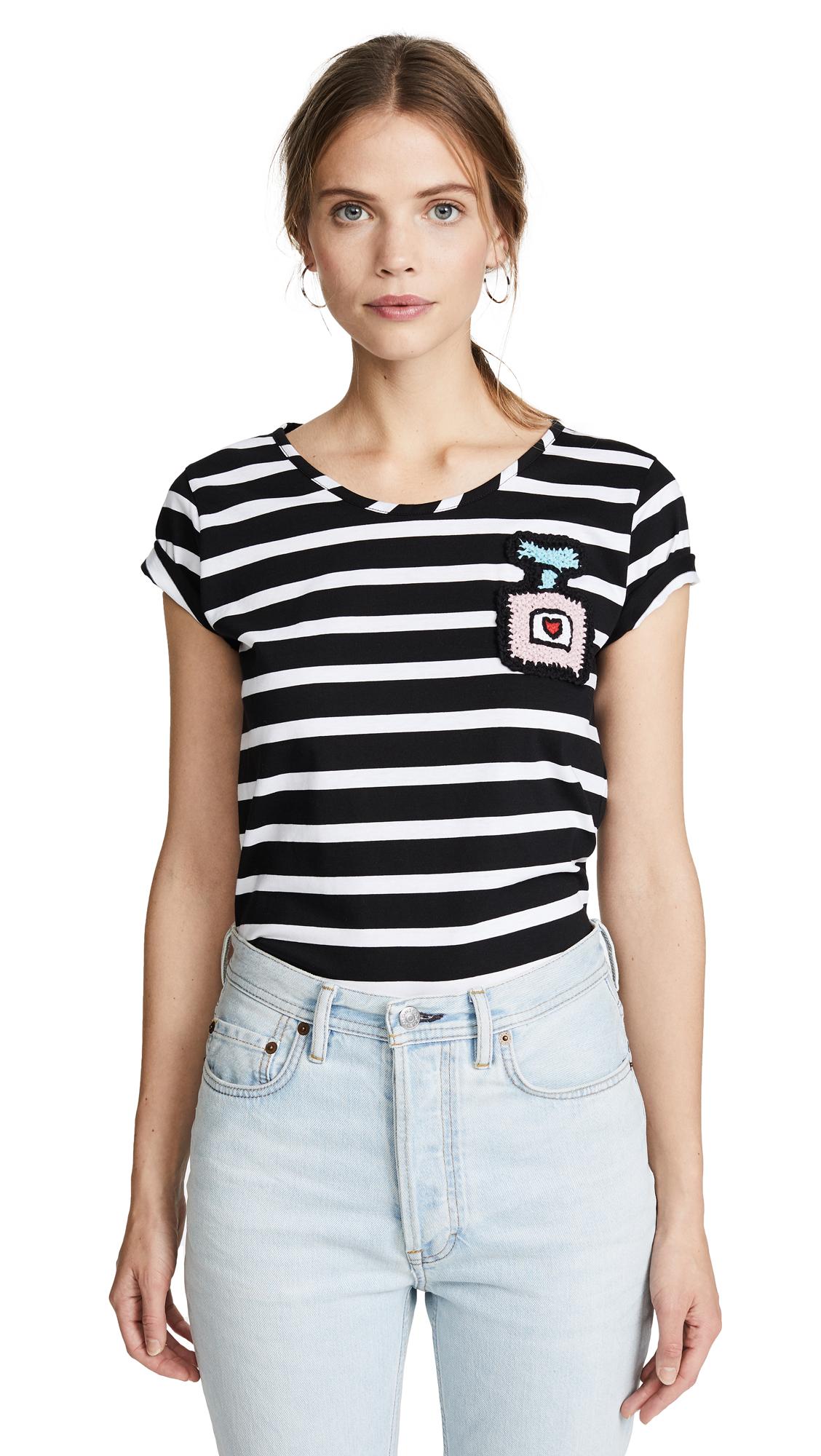 Michaela Buerger Perfume Bottle T-Shirt - Black/White