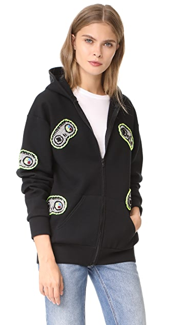 Michaela Buerger Hooded Sweatshirt with Game Controls