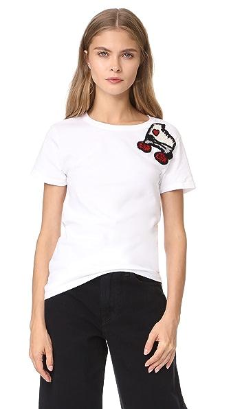 Michaela Buerger Roller Skate T-Shirt - White