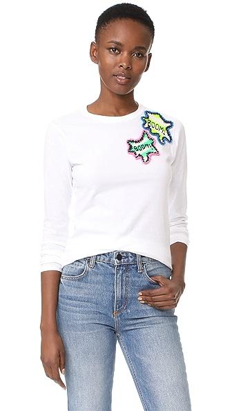 Michaela Buerger Long Sleeve T-Shirt Boom Box - Cream White