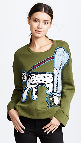 Michaela Buerger Dog Walking Oversize Sweatshirt