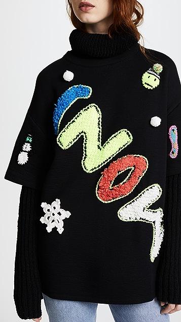 Michaela Buerger Snow Oversize Turtleneck Sweater