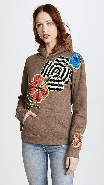 Michaela Buerger Funky Flowers Hooded Sweatshirt