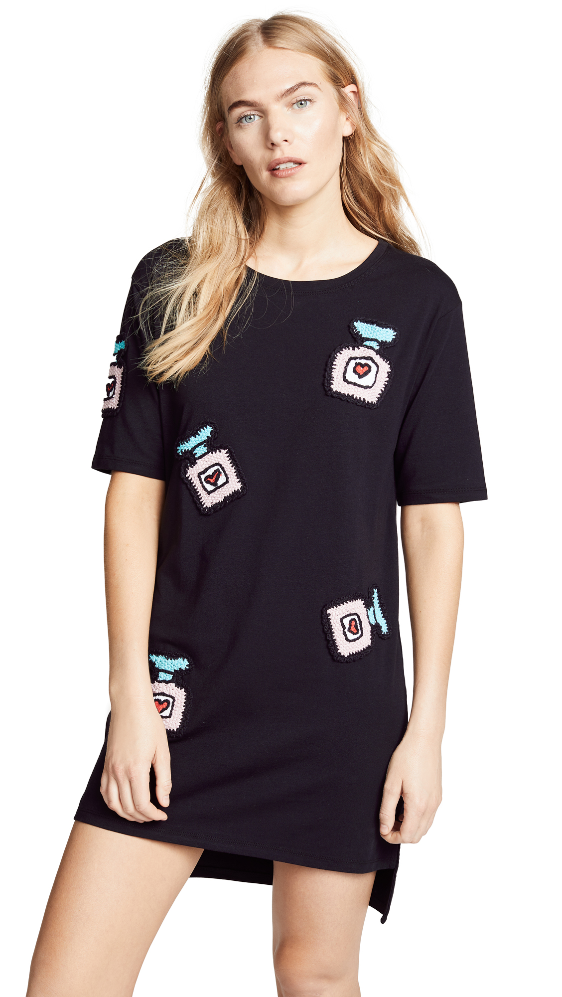 Michaela Buerger Oversize T-Shirt Dress In Black