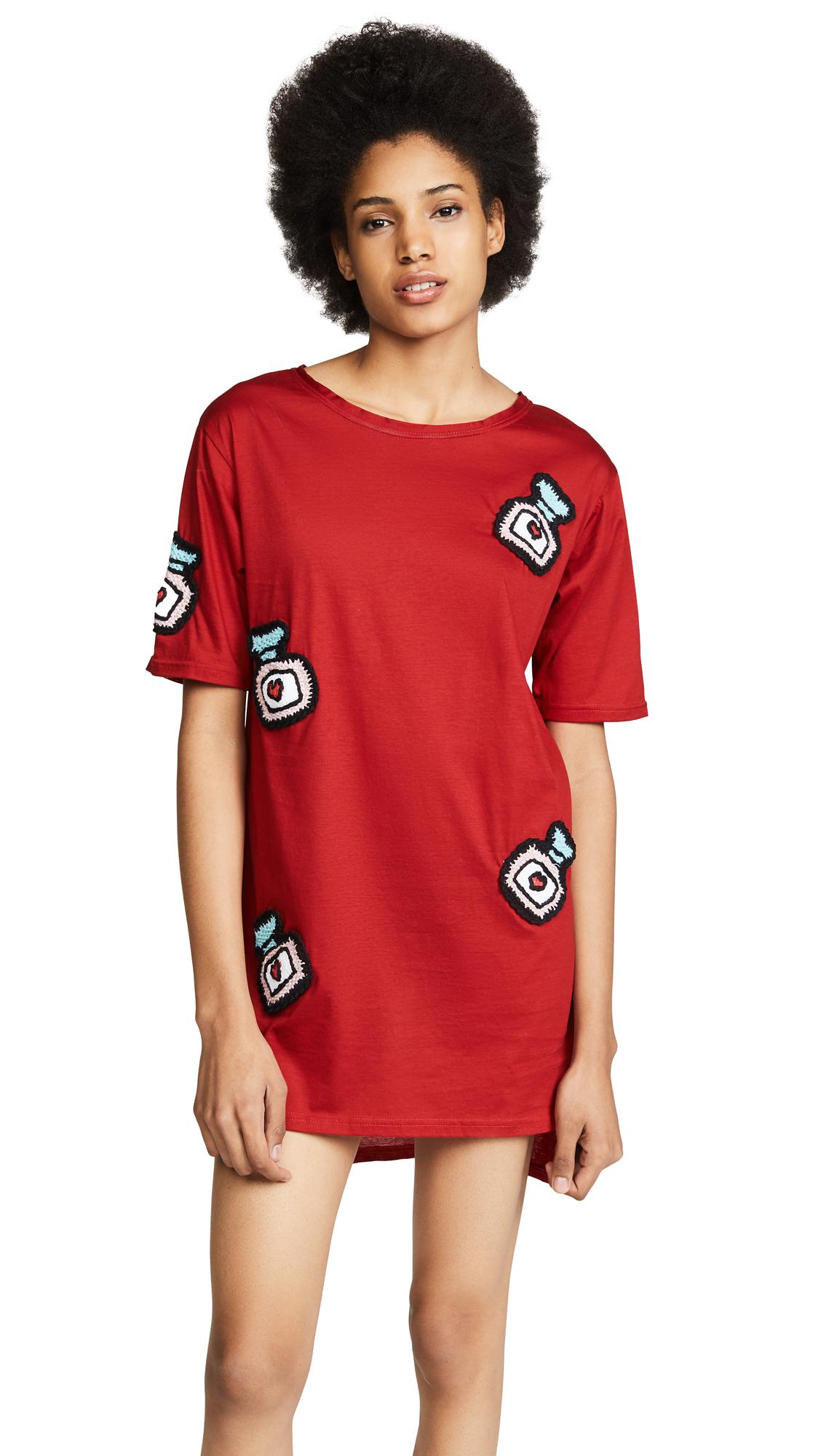 Michaela Buerger Oversize T-Shirt Dress - Red