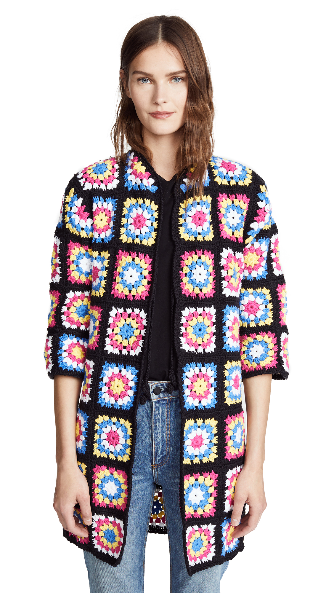 CROCHET FLOWER COAT