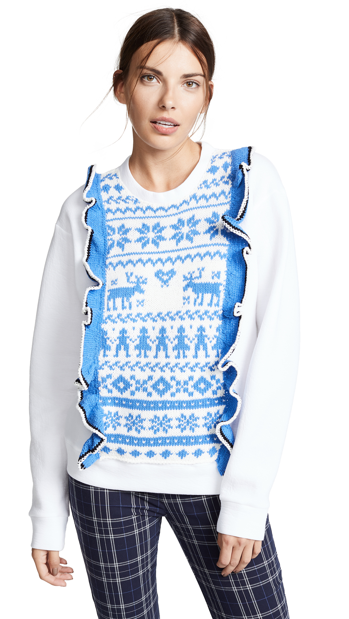 Michaela Buerger Fair Isle Sweatshirt In White