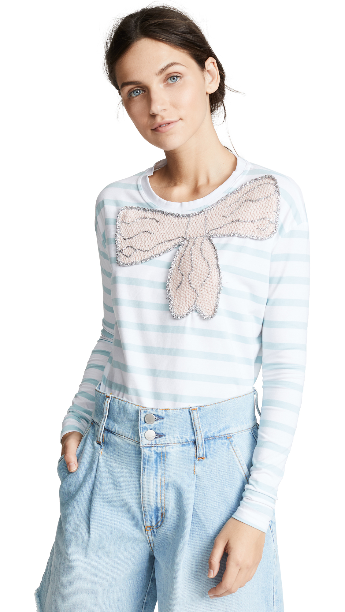 MICHAELA BUERGER LONG SLEEVE TEE WITH BOW