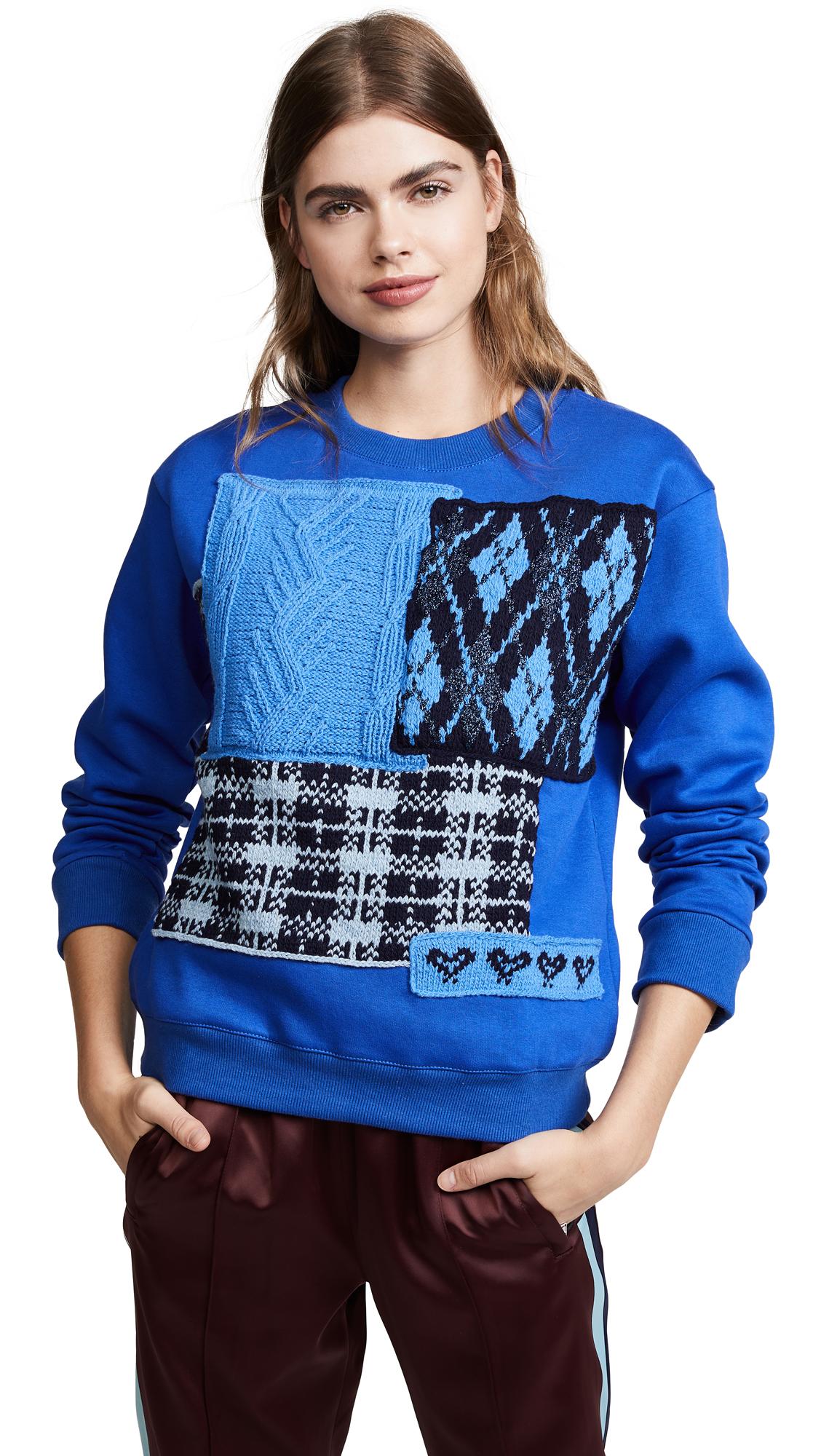 MICHAELA BUERGER Plaid Sweater in Blue Multi