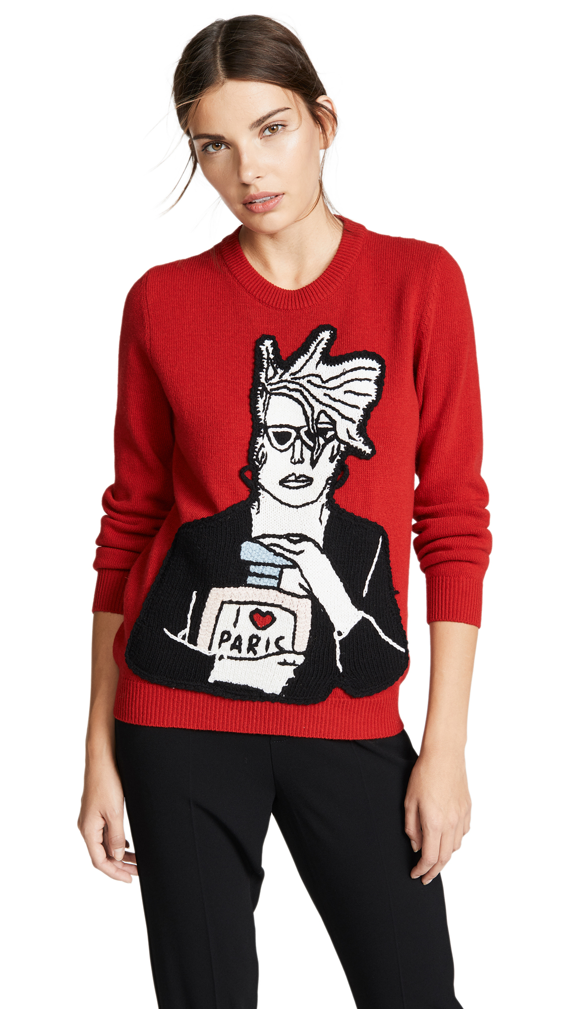 MICHAELA BUERGER Icon Perfume Sweater in Red