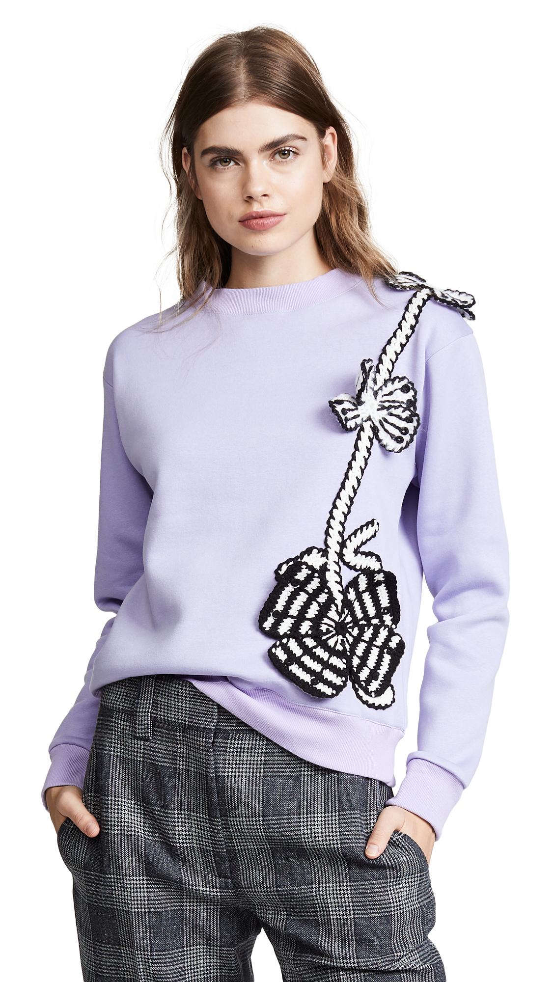 MICHAELA BUERGER Flowers Sweatshirt in Lilac
