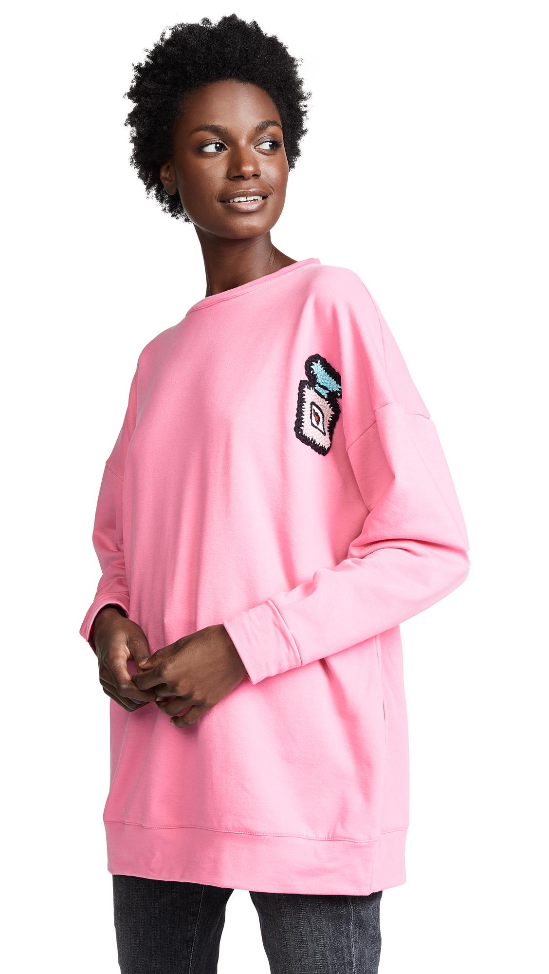 MICHAELA BUERGER Oversize Perfume Bottle Sweatshirt in Pink