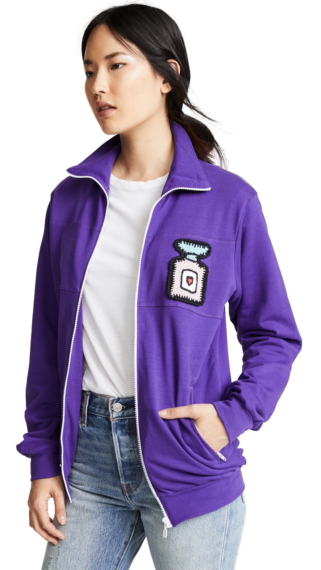MICHAELA BUERGER Collared Jacket in Purple