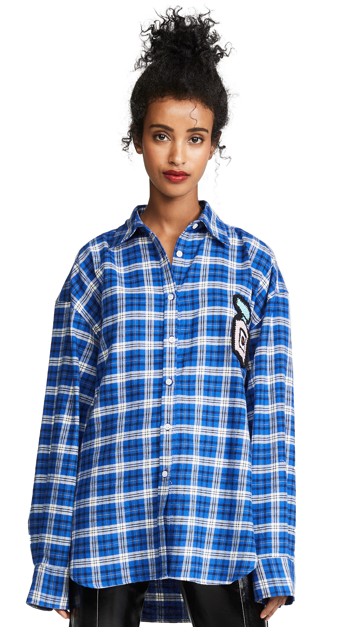 Michaela Buerger Plaid Oversized Perfume Bottle Flannel