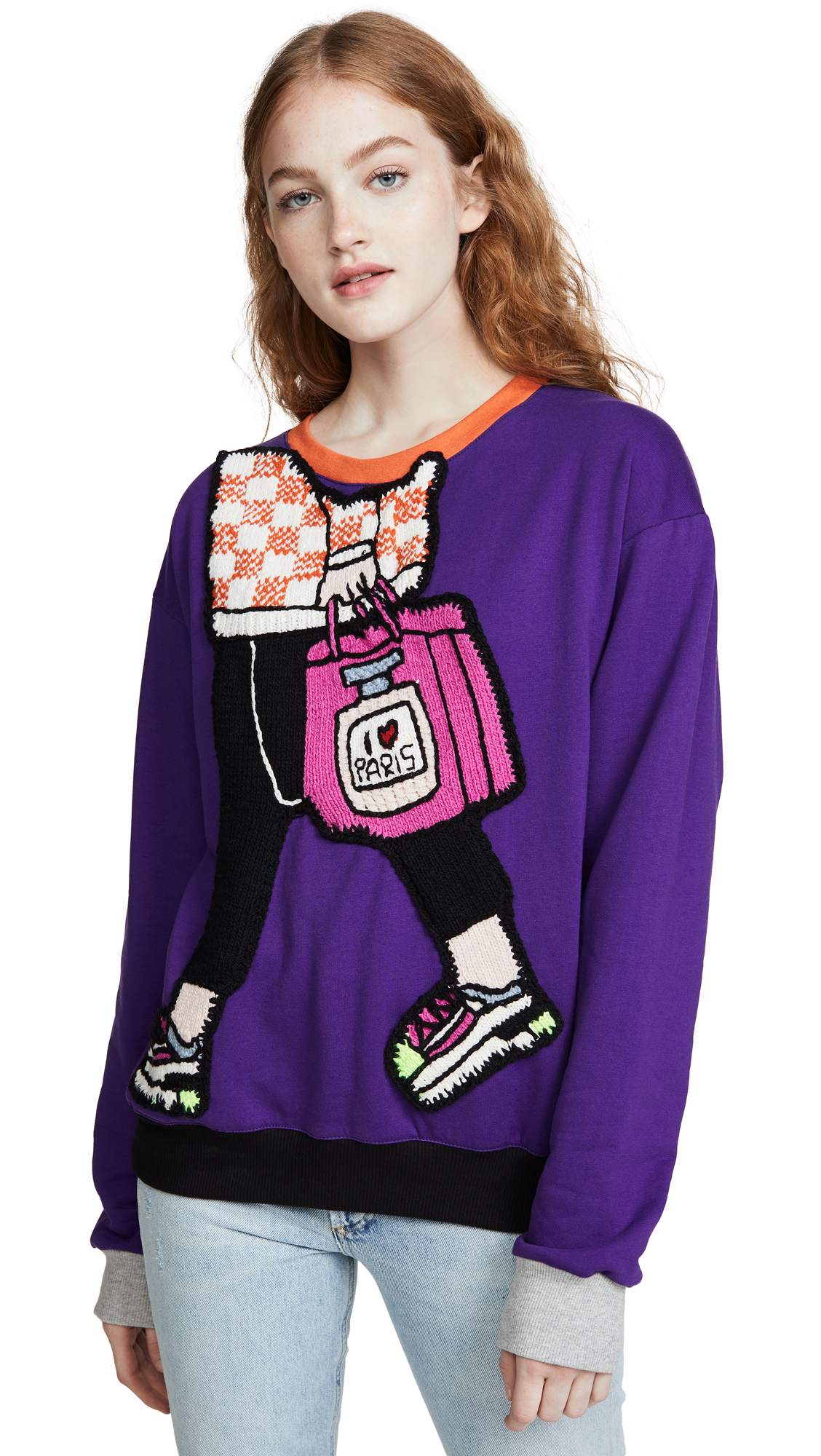 Buy Michaela Buerger online - photo of Michaela Buerger I Love Paris Carryall Sweatshirt