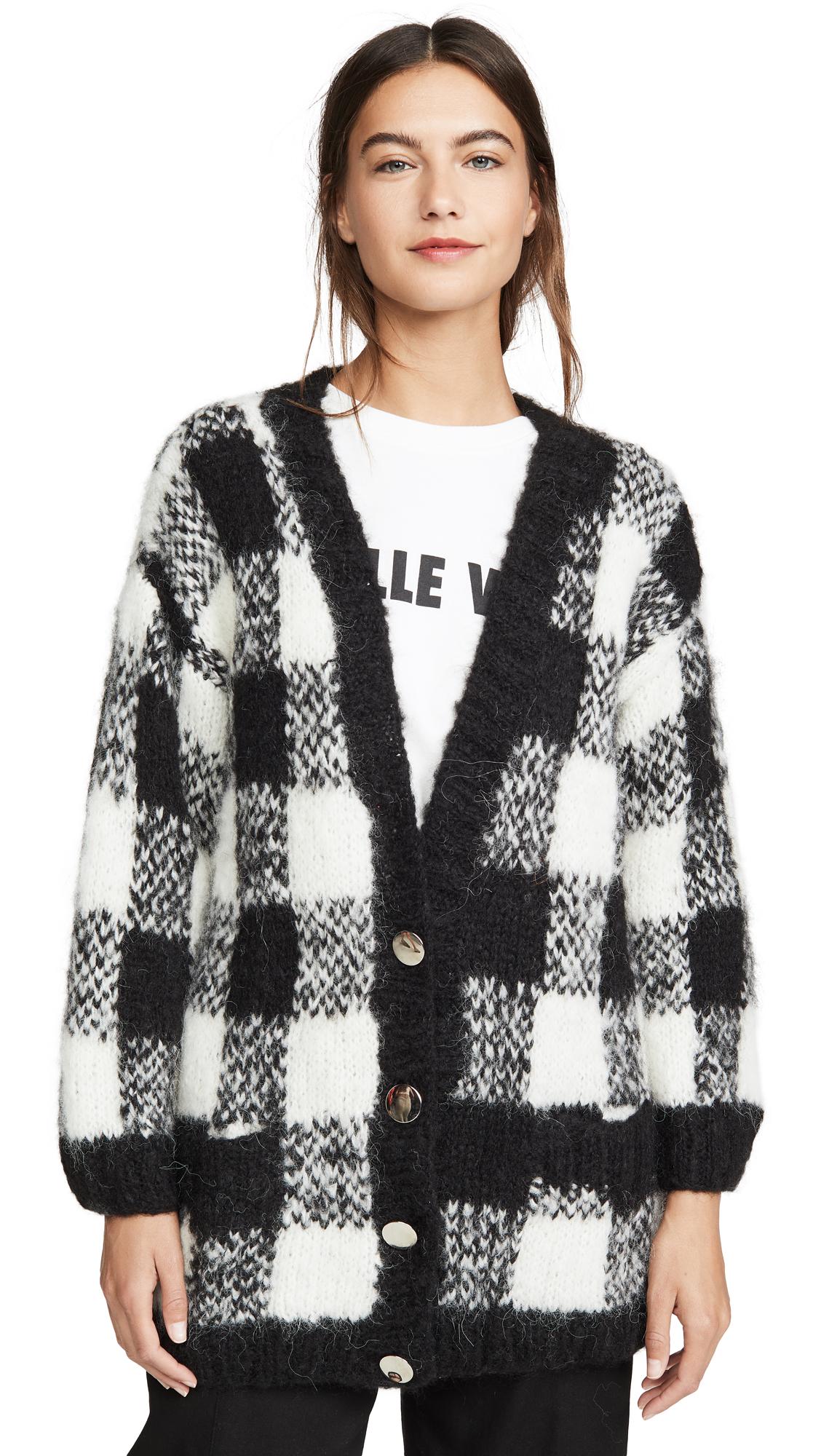 Buy Michaela Buerger online - photo of Michaela Buerger Alpaca Check Cardigan