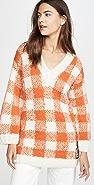 Michaela Buerger Alpaca Check V Neck Sweater