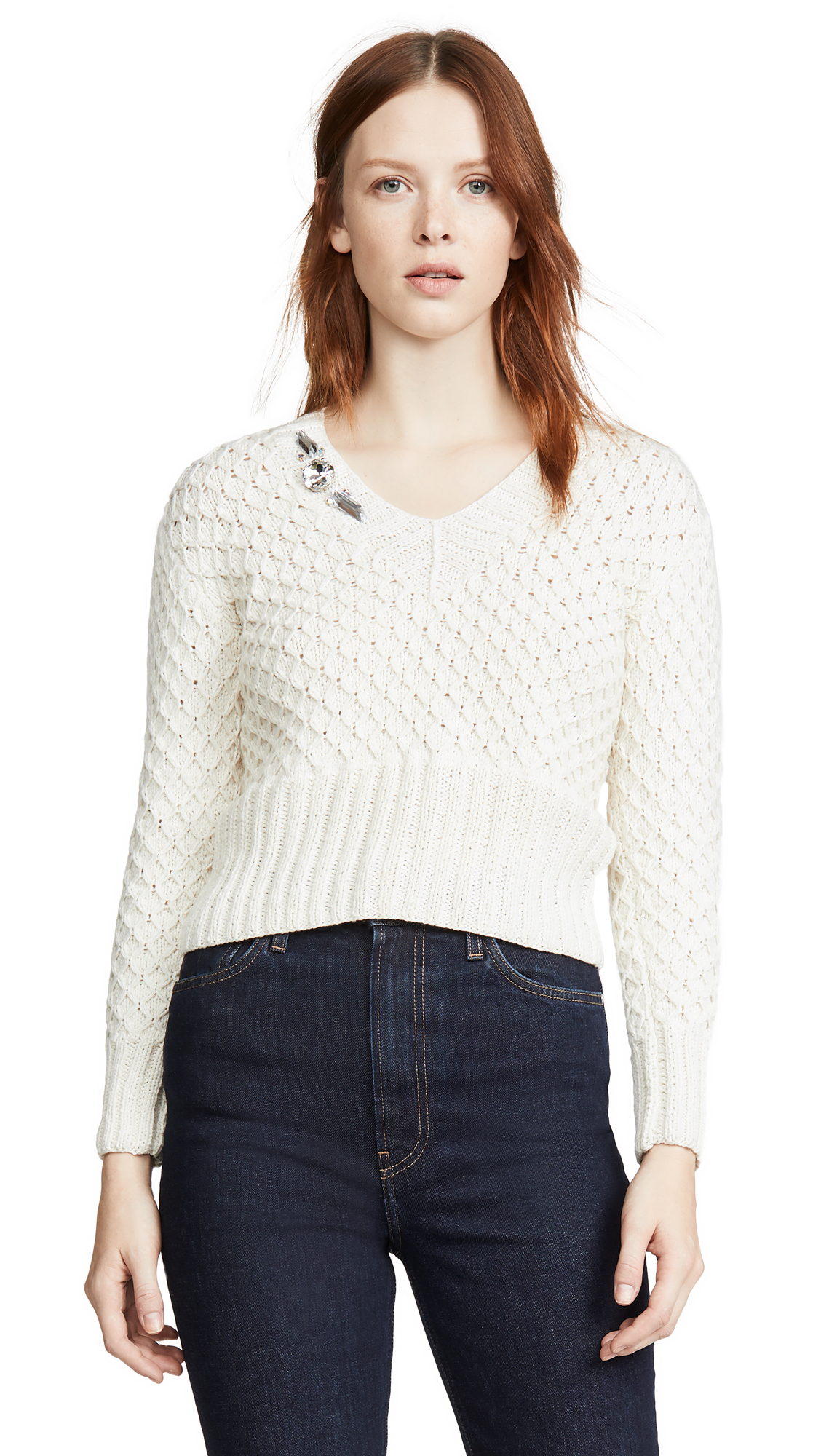 Buy Michaela Buerger online - photo of Michaela Buerger V Neck Cashmere Sweater