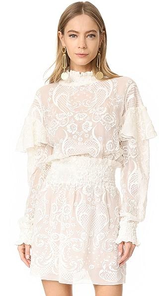 Magda Butrym Long Sleeve Blouse - Cream