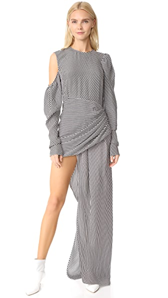Magda Butrym Sevilla Striped Dress