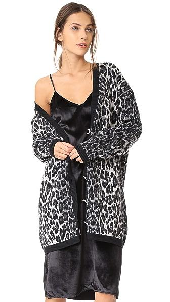 Купить Magda Butrym Объемный кардиган с леопардовым принтом серый