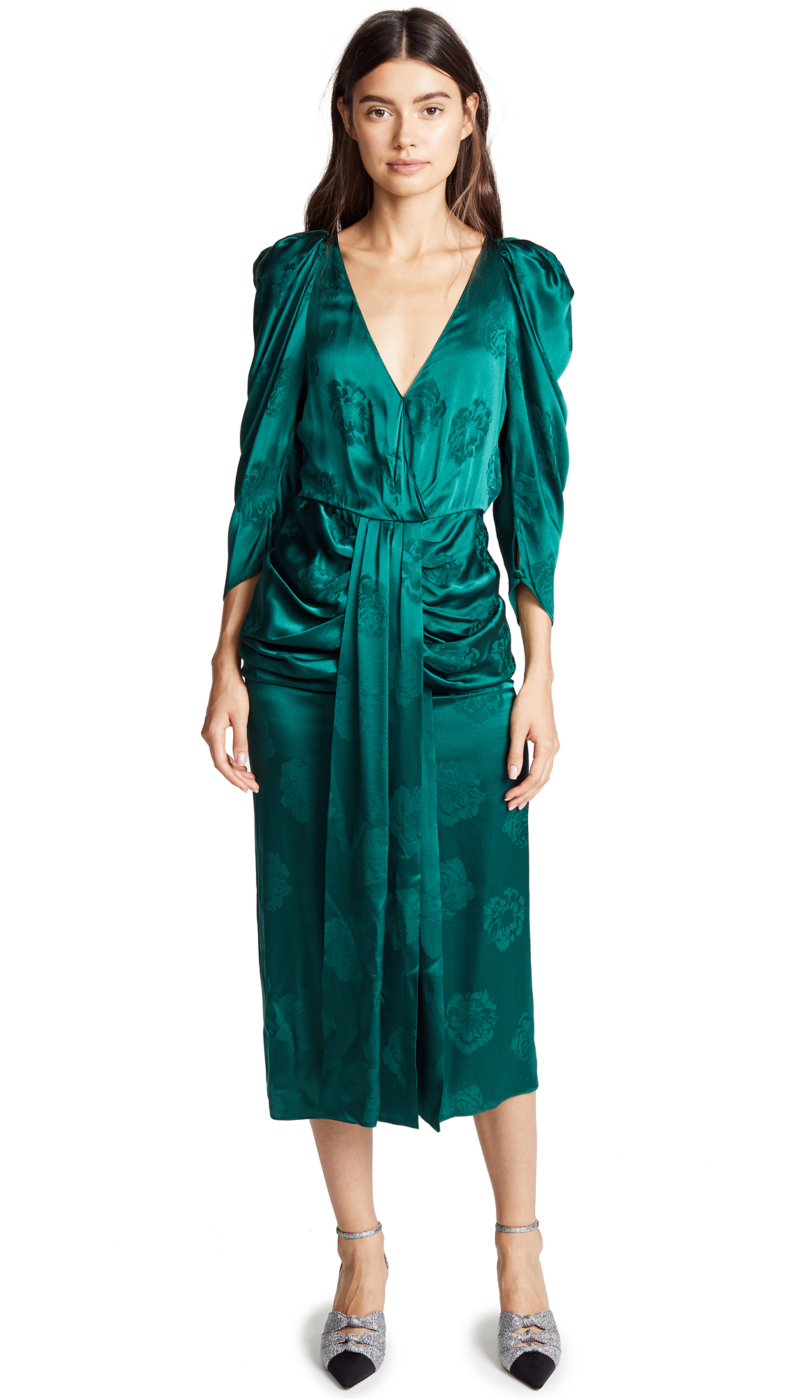 Magda Butrym Downey Dress In Green