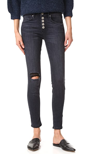 McGuire Denim Newton Skinny Jeans with Exposed Button Fly - Elson