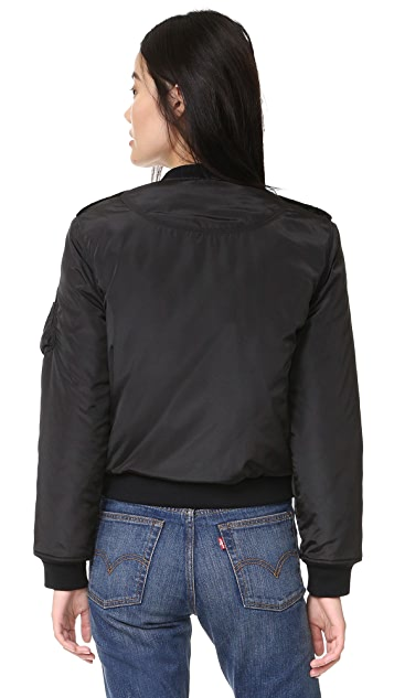 McGuire Denim Quilted Bambina Bomber Jacket