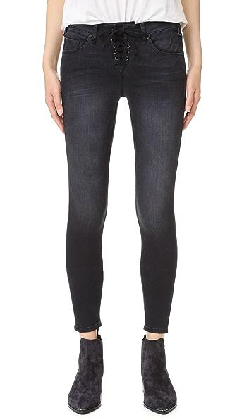 McGuire Denim Shore Leave Slim Lace Up Jeans - Ballerina Black
