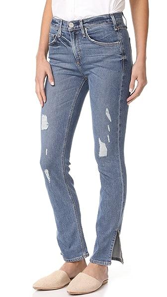 McGuire Denim Valetta Straight Jeans with Slit Hem