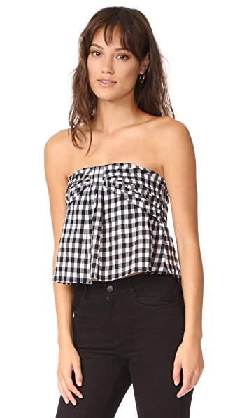 McGuire Denim Lousia Bustier In Black Gingham