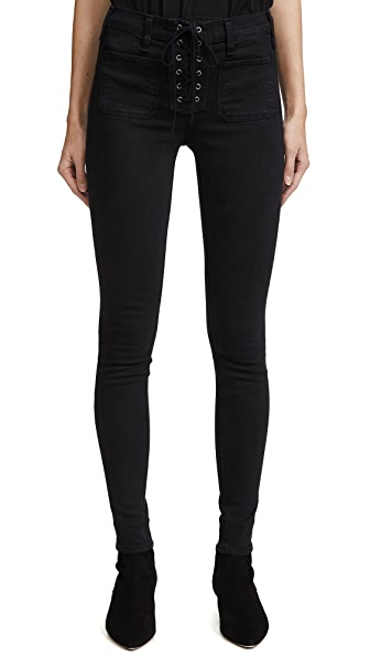 Isabeli Lace Up Skinny Jeans