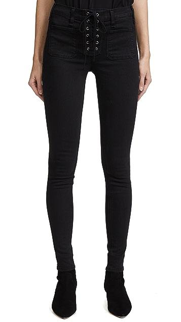 McGuire Denim Isabeli Lace Up Skinny Jeans
